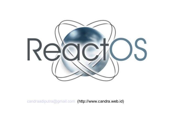 ReactOS desktop