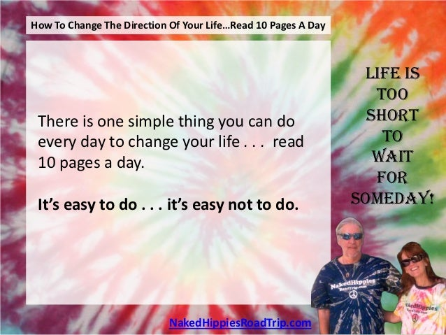 How To Change The Direction Of Your Life . . . Read 10 Pages A Day