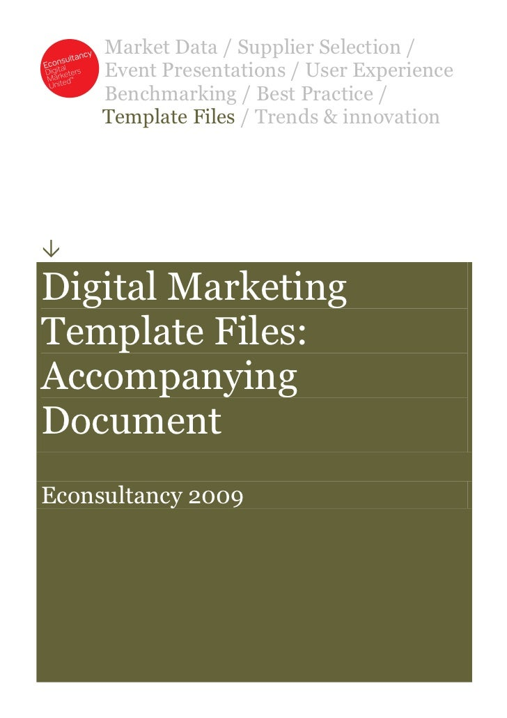 Read first-econsultancy-digital-marketing-template-files