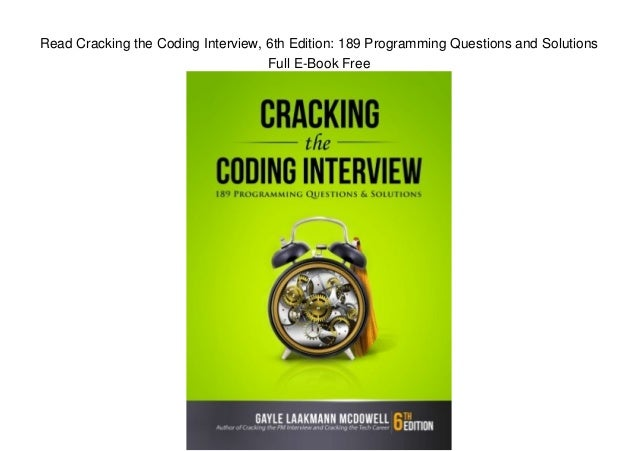 cracking the coding interview pdf 6th edition free download