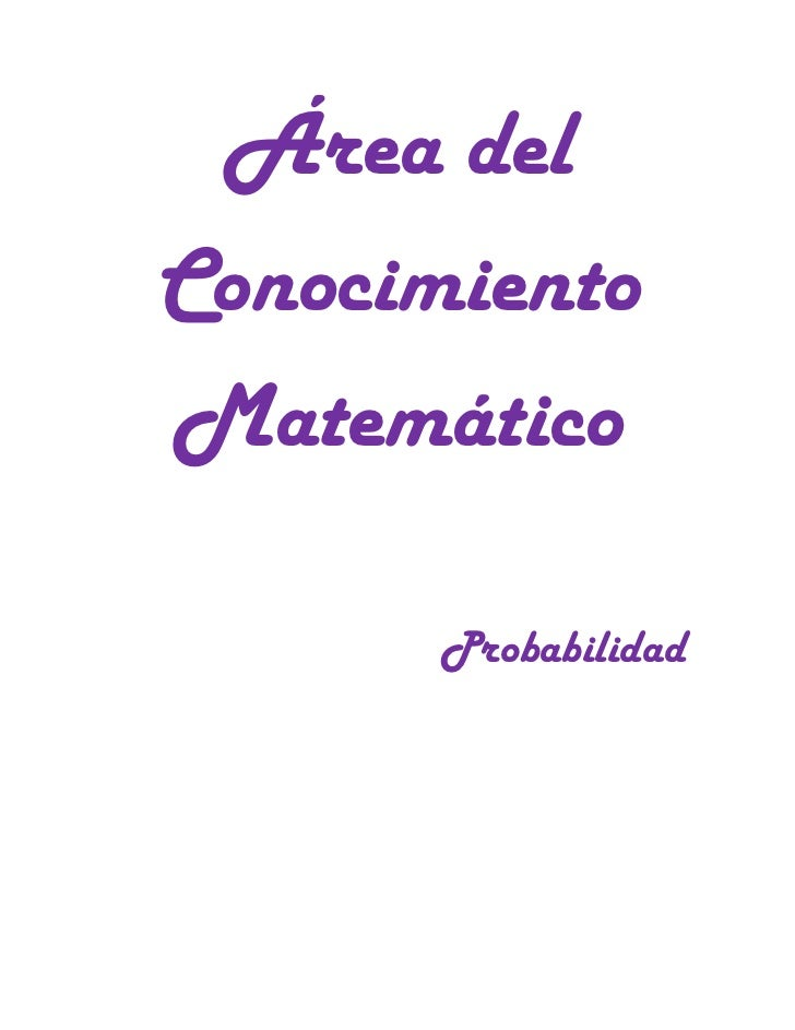 áRea del conocimiento matemático