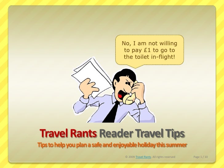 Travel Rants Reader Tips