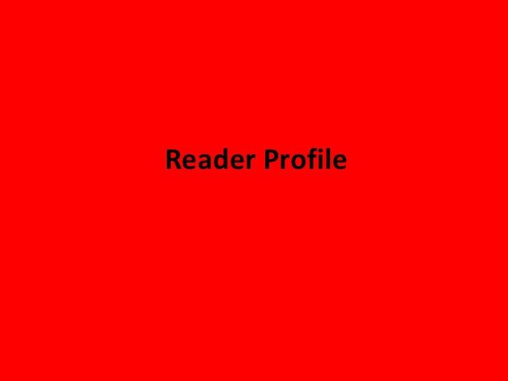 Reader Profile<br />