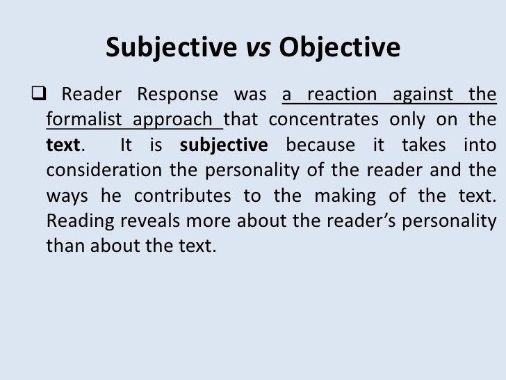 Readers response criticism essay