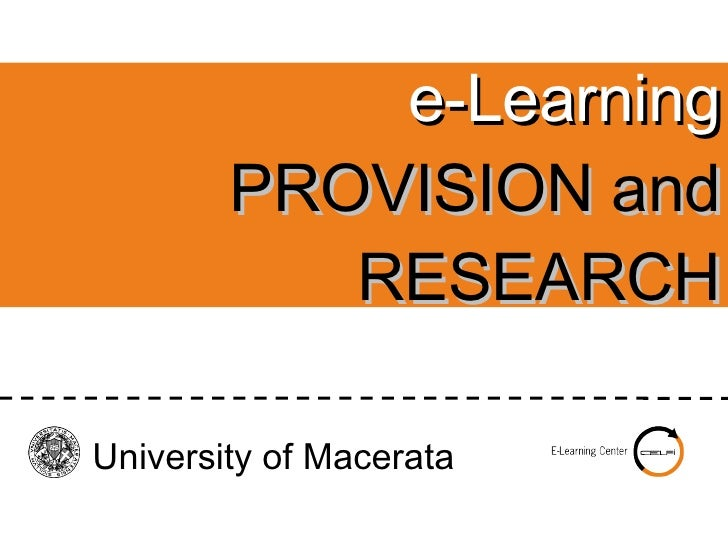 e-learning at Macerata University