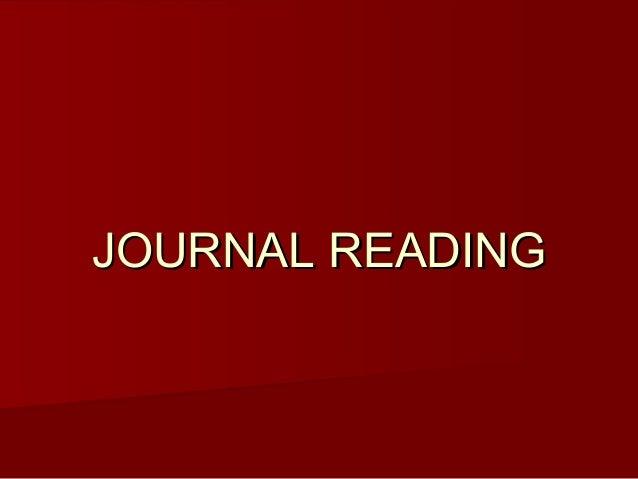 JOURNAL READINGJOURNAL READING