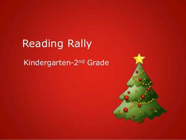 Reading Rally Kindergarten-2nd Grade