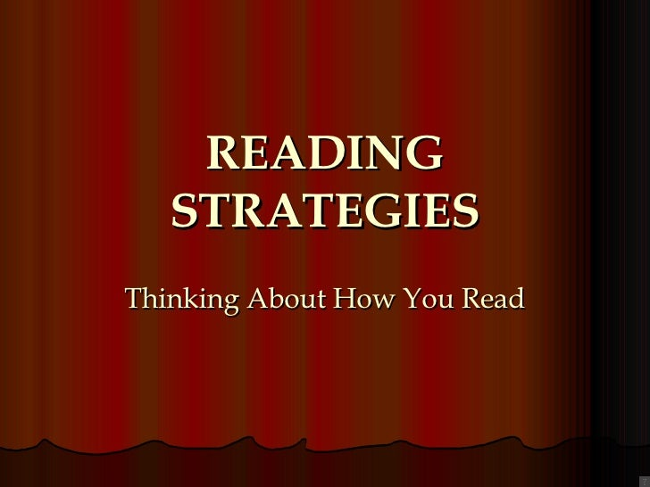 Reading  Strategies To Think About