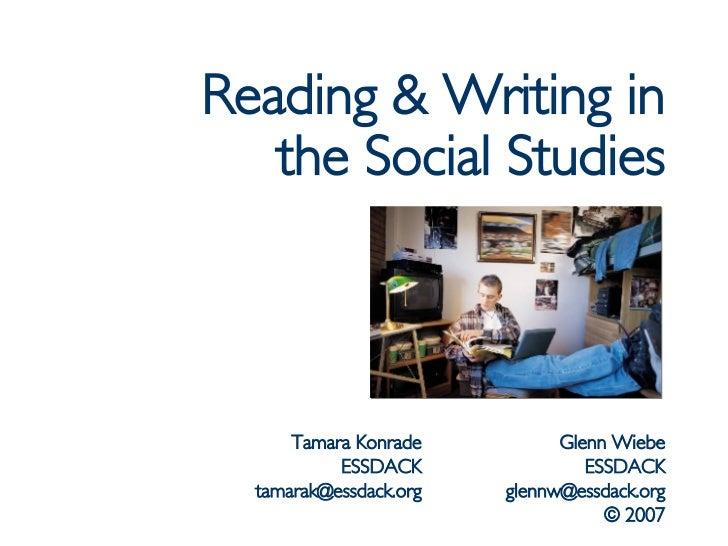 Reading & Writing in Social Studies