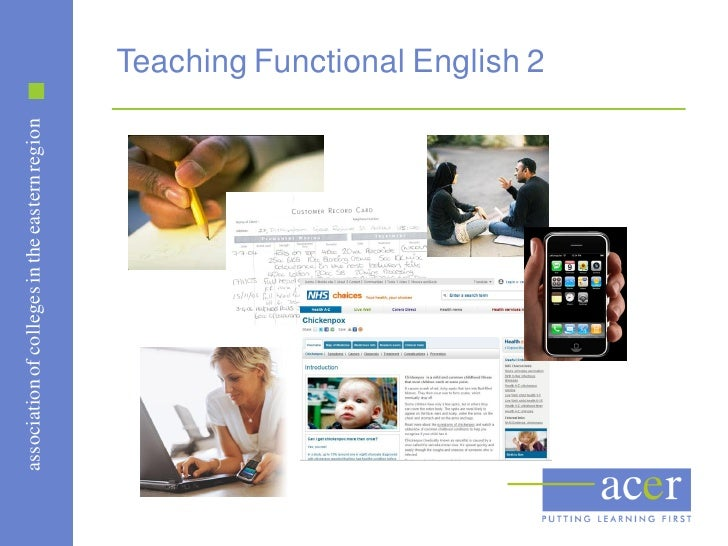 association of colleges in the eastern region                                                Teaching Functional English 2