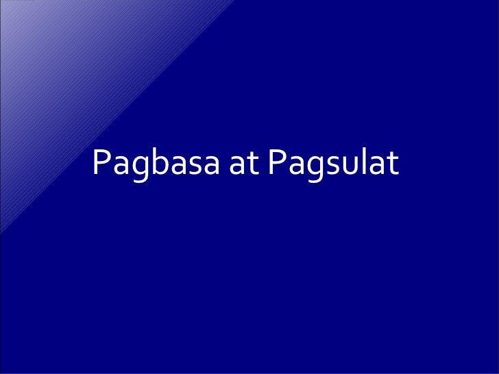 Pagbasa at Pagsulat