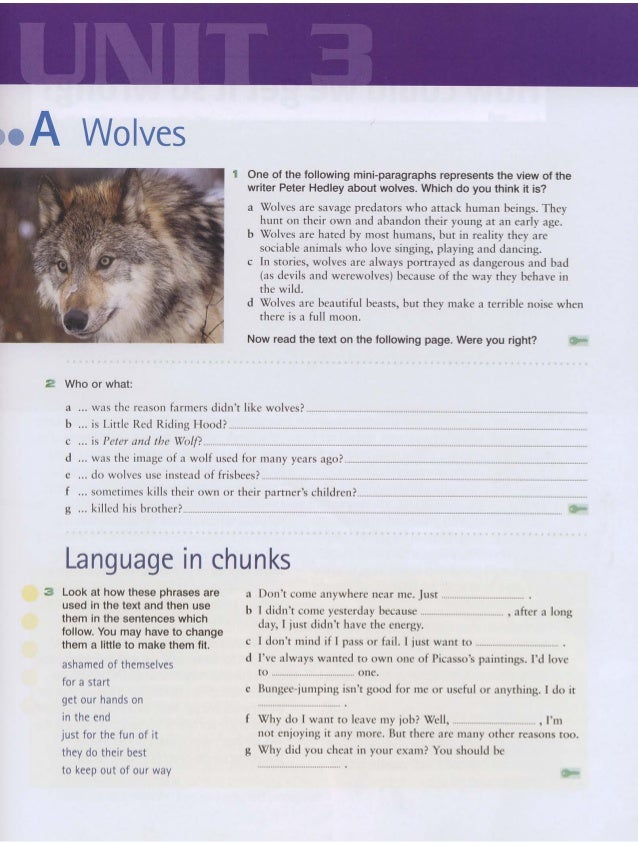 Wolves 1 One of the following mini-paragraphs represents the view of the writer Peter Hedley about wolves. Which do you th...