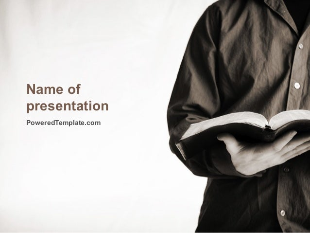 Reading a Book PowerPoint Template by PoweredTemplate.com