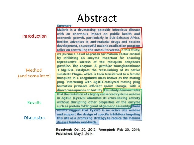 Abstract of a scientific research paper