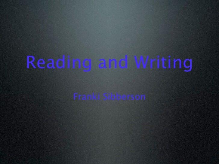 Reading and Writing Digitally 2012