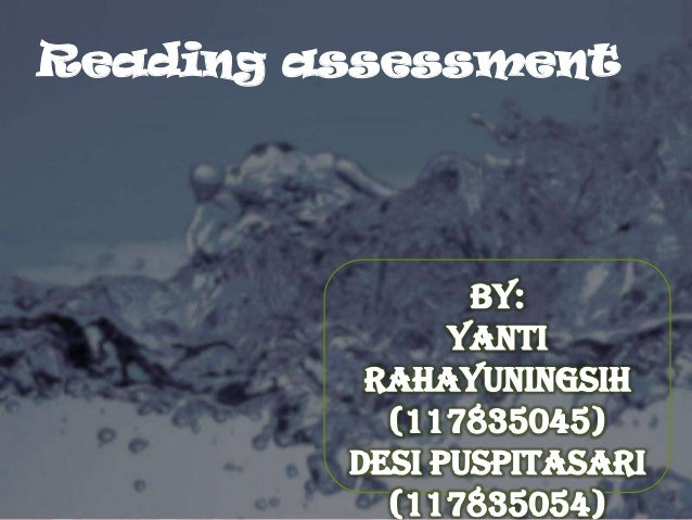 Reading assessment      Powerpoint Templates