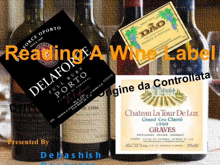 Reading a wine label