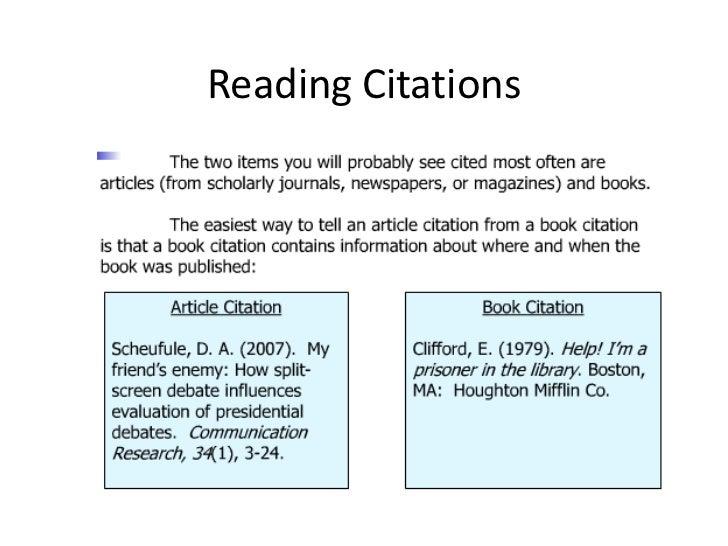 Reading Citations 2012