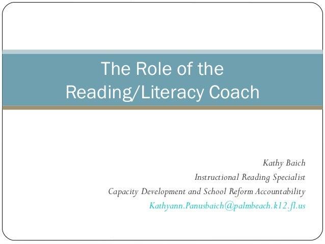Kathy BaichInstructional Reading SpecialistCapacity Development and School Reform AccountabilityKathyann.Panusbaich@palmbe...