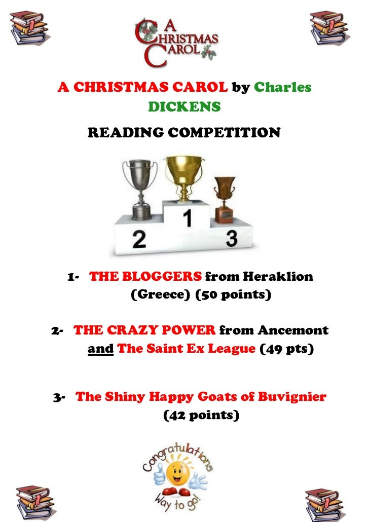 A CHRISTMAS CAROL by Charles         DICKENS    READING COMPETITION  1- THE BLOGGERS from Heraklion          (Greece) (50 ...