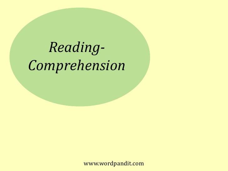 www.wordpandit.com<br />Reading-<br />Comprehension<br />