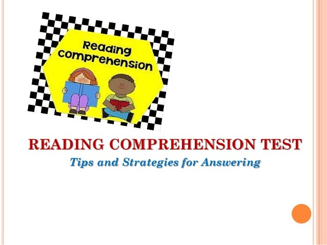 english comprehension test with answers pdf