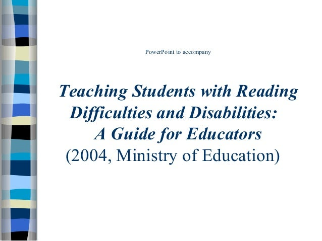 Reading difficulties & disabilities power point