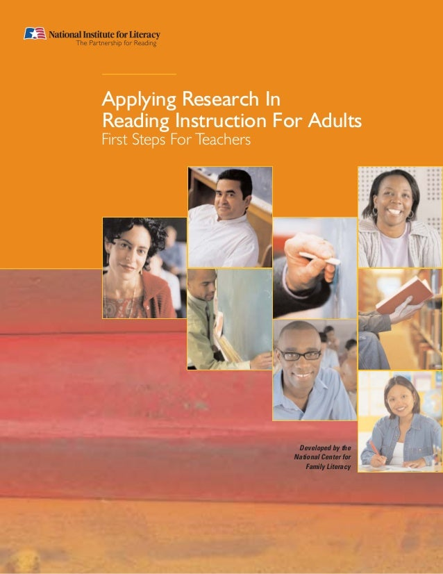 Developed by theNational Center forFamily LiteracyApplying Research InReading Instruction For AdultsFirst Steps For Teachers
