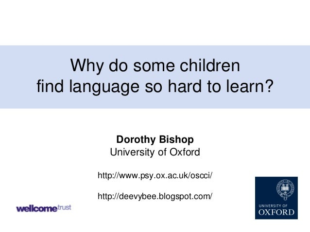 Why Do Some Children Find Language So Hard to Learn?