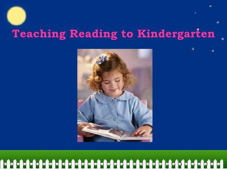 Teaching Reading to Kindergarten