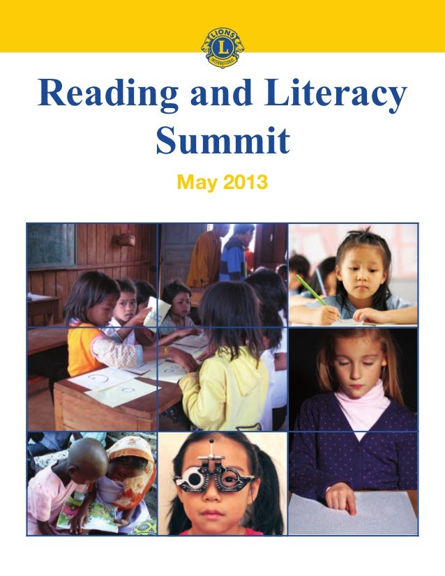 Reading and Literacy Summit May 2013