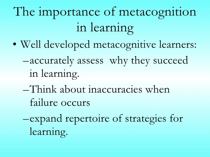 The Role of Metacognition in Learning and Achievement