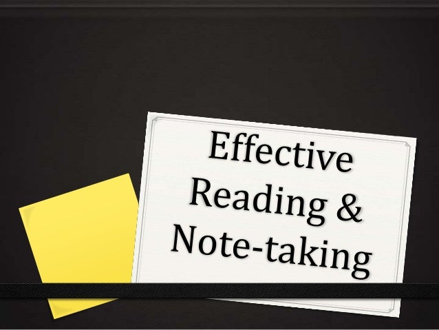 Reading & note taking 2013