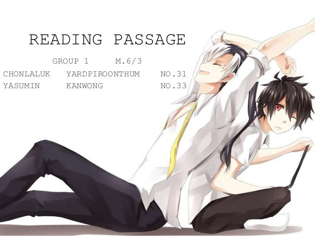Reading passage(no answer)