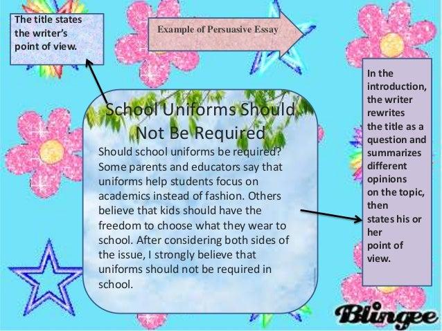 No School Uniforms Essay