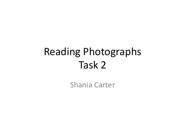 Reading photographs analysis