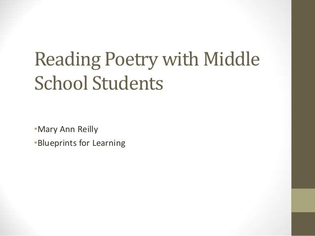 Reading Poetry with Middle School Students