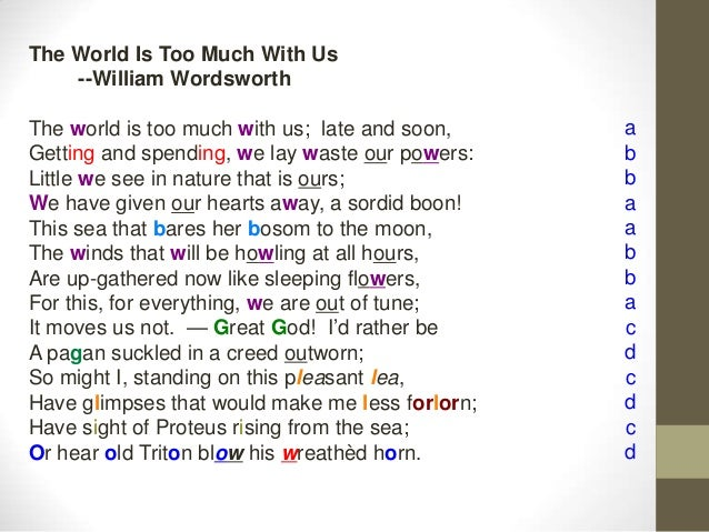 The World Is Too Much With Us Essay
