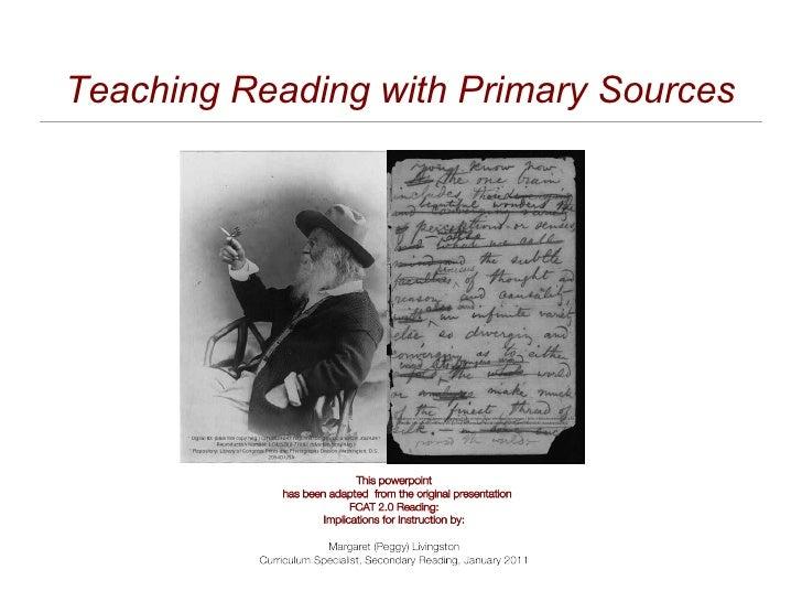 Reading primarysources fcat20