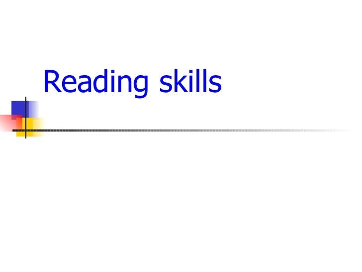 Reading skills finaél