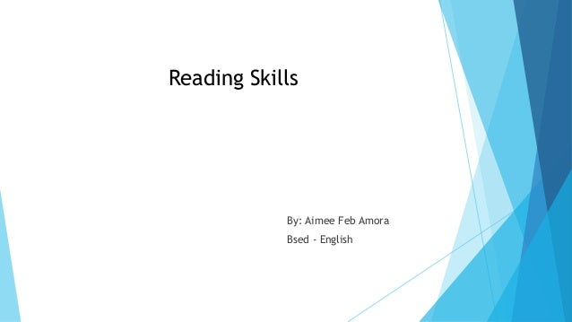 how to develop reading skills in english