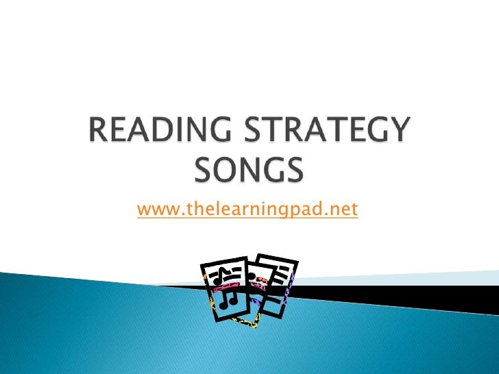 Reading strategy songs 2