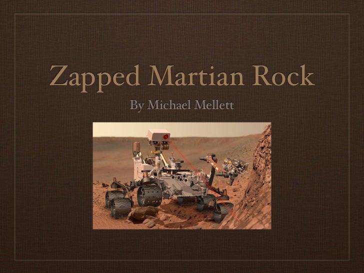 Zapped Martian Rock