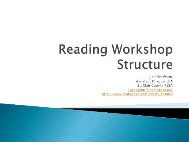 Reading workshop structure