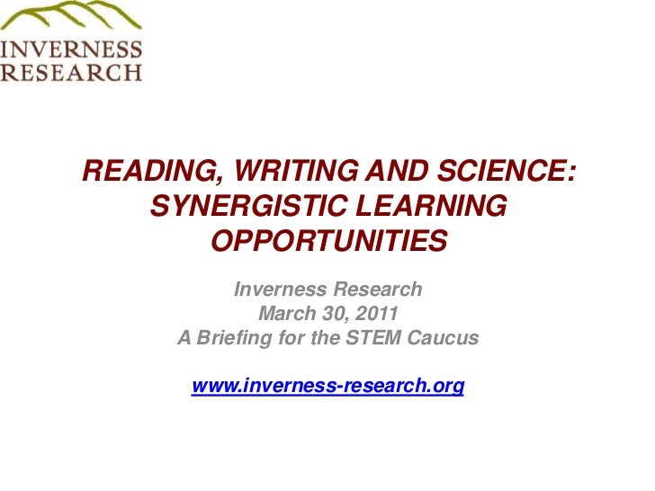 Reading, writing and science synergistic learning opportunities