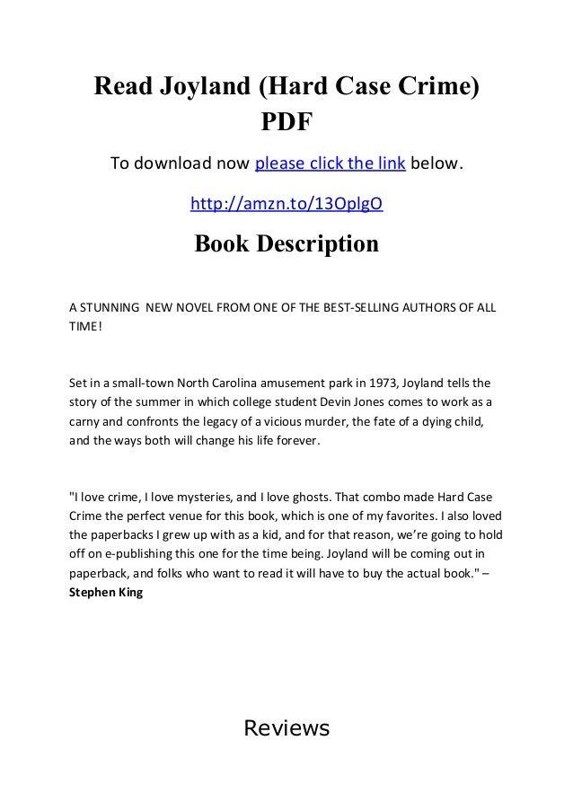 Read joyland (hard case crime) pdf