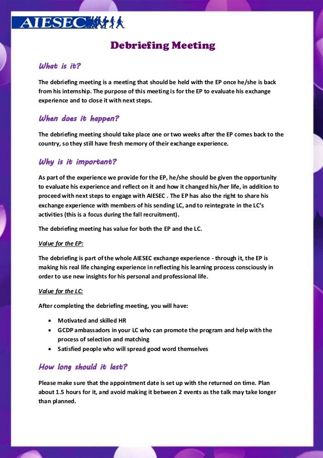 Charming Debriefing Template Photos Example Resume And