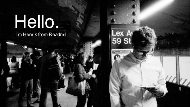Readmill -  How do we read