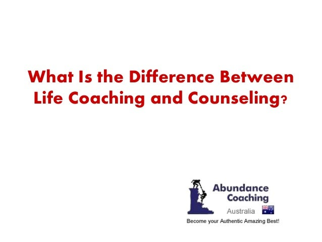 a discussion on how coaching differs from counselling People who seek the help of a counsellor have usually found themselves in a  predicament they cannot seem to find a way out of or, they may have suffered a .