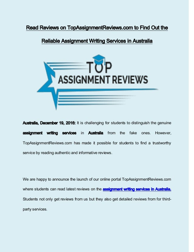 assignment writing service reviews Assignment writing service reviews for all popular assignment help providers in australia read and choose the best essay writing service or leave your review.